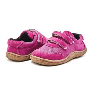 Tipsietoes Kinder 2020 Kleinkind Baby-echtes Leder + Stoff Schuh Mädchen Jungen Turnschuh-Kind-Kind-verursachende Wohnung Barfuß