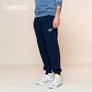 Simwood 2020 Yaz Yeni Jogger Sweatpants Erkekler Işlemeli Eşofman Artı Boyutu Rahat Nedensel Pantolon Pantolon Y200701