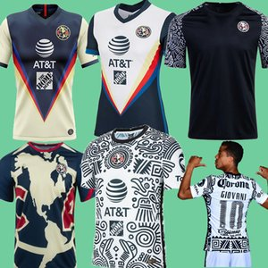 20 21 Club America Pre Match Training Men + Kids Giovani Benedetti Home Away Third White Homekeary Soccer Jerseys 20 21 Camisetas de Fútbol