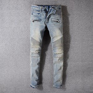 Mens Designer Jeans Mens Designer Casual Straight rock revival Jeans Retro Slim Skinny Jean Fashion New Arrivals Denim pants jeans