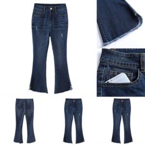 MLAs Blue Lady Slim Skinny Hose Stilvolle Spitze Womens Jeans Jeans Designer Capris Damen Jeans Mode