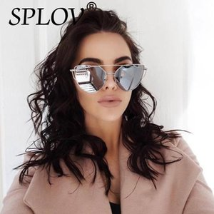 2020 Nuovo Cat Eye Aviation occhiali da sole donne moda vintage in oro rosa specchio del sole Occhiali da sole donna Hut UV400 unico piatto