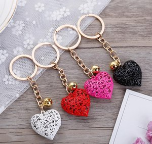 20pcs lot Wholesale Hollow Heart Keychains Fashion Charm Cute Purse Bag Pendant Car Keyring Chain Ornaments Gi jllRby bde_jewelry