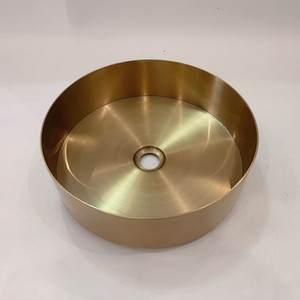 cangler bathroom sink 3MM thick stainless steel wash basin gold table basin wash basin countertop sink round bar sink