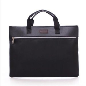 Designer Wallet Brand Double zipper portable briefcase leather file bag meeting bag Drop Shipping High quality