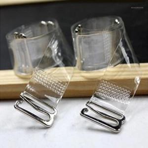 3Pairs = 6 PZ Metal Fibbia Bra Cinturini Cintura Elastico Elastico Elastico trasparente Bra Straps Regolabile Intimates Accessori1