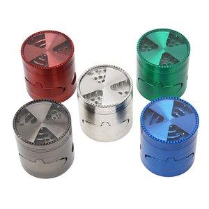 Tobacco Smoking Herb Grinders 4 Layers Metal Grinder 100% Metal dia 63 65mm have Multiple types With Clear Top Window Lighting Grinder