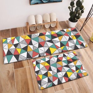 Abstract Geometry Rugs And Stripes Carpets For Kids Baby Home Living Room Non-slip Bedroom Hallway Yoga kitchen Door Floor Mats