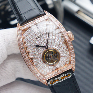TWF V2 version MEN'S COLLECTION V 45 T D Automatic Mechanical Gypsophila Diamond Dial Mens Watch Rose Gold T-diamonds Case Iced Out Watches