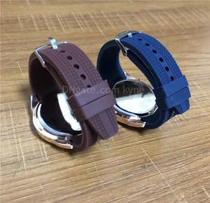 Silicone Strap 45mm 스포츠 스타일 시계와 최고의 판매자 망 시계 큰 검정 / 파랑 / 갈색 다이얼 손목 시계 좋은 품질