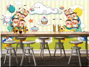 Custom photo wallpaper 3d mural wallpaper for living room Fresh and beautiful children's room cartoon background wall painting decoration