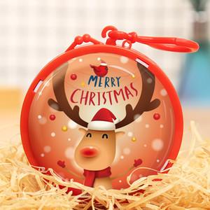 Cartoon Tinplate Coin Purse Christmas Gift For Girl Boy Box Mini Key Holder Change Purse Wallet Headphone Christmas Decoration