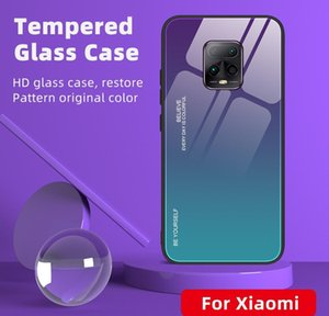 Colorful Gradient Tempered Glass Case For Xiaomi Redmi 10x 5g Note 10 Lite Redmi 9 Note 9s Note jllUjE car_2010