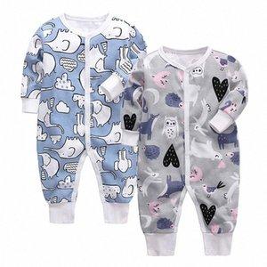 Bébé Garçons Filles Blanket Traverses du nouveau-né Les bébés de nuit Manches longues pour nourrissons 0-24 mois Pyjama rxUP #
