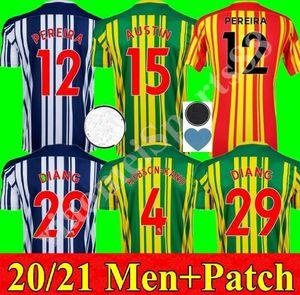 20 21 West Bromwich Albion Home Jersey 2020 2021 Away Camisa de Futebol Kit Camiseta de Futbol West Brom Homens Robson-Kanu Uniforme
