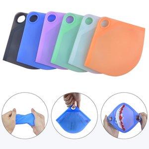Tragbare Silikonmaske Fall Gesichtsmasken Box Halter Behältermaske Aufbewahrungsbox Organizer Ordner Tasche Schutzorganisation Anti Dust Owb2804