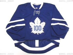 Ucuz Özel Toronto Maple Leafs Mezunlar Centennial Classic Jersey Kaleci Kesim 60 Herhangi bir isim numarası ekle