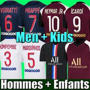 NEYMAR MBAPPE ICARDI MAILLOTS DE FOOTBALL PSG JORDAN 19 20 21 soccer jersey de la psg 2019 2020 2021 maillot foot Paris saint germain kit chemise PSG enfant SETS enfants