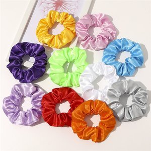 Newest Party LED Headband Light Colorful Satin Hair Holder Headwear Tie for Women Girls Elastic Ring Rope LED Scrunchies k257