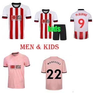 20 21 Men child boys kids kit Sheffield Soccer Jerseys berge MOUSSET United 2020 2021 McBURNIE LUNDSTRAM FLECK Football Shirt NORWOOD