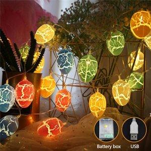1.5M LED Huevos de Pascua Decoración 10/30 unids Colorful Cronce Huevos LED Luces Cadena Decoración de Pascua para niños Regalos de vacaciones DHE4491