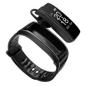 BluetoothY3 Handsfree Headset Talk Smart band Bracelet heart rate monitor Sports Smart Watch Pedometer Fitness Tracker Wristband