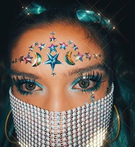 Venetian Kopfschmuck für Gesicht Frauen glänzende Kette Quaste Karneval-Maskerade-Masken Schmuck Nachtclub-Party-Halloween-Maske Yp761
