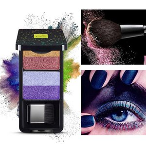 4 color shimmering Eye Shadow Palette durable pearl water makeup pearl eye shadow texture smooth and delicate.