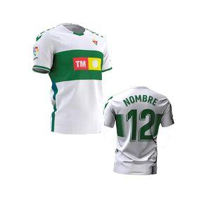 2020 2021 Elche CF Futbol Formaları Eve Uzakta Rodriguez 8 Fidel 16 Calvo 12 Milla 11 Josan 17 Folk 4 Futbol Gömlek Folland