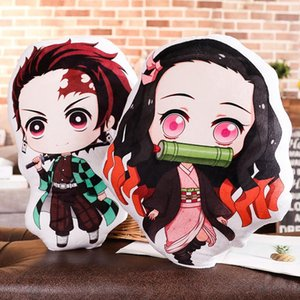Hot Sale Anime Cartoon Demon Slayer Ghost Blade Plush Toys Dolls Cushion 13-45CM Double Sides Pillow