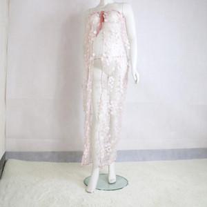 ¡Despeje! Última gasa de maternidad vestido de encaje para la sesión fotográfica del flor Apliques de maternidad fotografía apoya la mujer embarazada