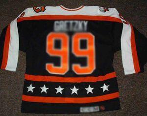 Barato Custom Wayne Gretzky 1990 All Star Game Hockey Jerseys Mens Jerseys Peligalized Steys XXS-6XL 5XL 4XL 3XL