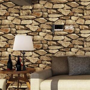 New Stone Grain Rock Pattern Chinese Style Retro Chinese Style Wallpaper Restaurante Ropa Tienda Pelo Salón Papel pintado
