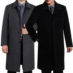 2020 Men's Winter Wool Coat Luxury Long Design Overcoat Velvet Thickening Fashion High Qualiy Plus Size L-5XL Mens Trench Coat1
