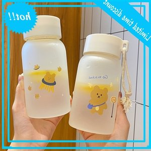 Creative portable drinking women's glass frosted simple fresh lovely personality trend student boys and girls cup