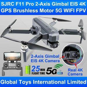 SJRC F11 Pro 4K GPS Drone ile Fırçasız Motor GPS 5G WiFi FPV 4 K HD Kamera Iki Eksenli Anti-Shake Gimbal F11 Quadcopter Drone