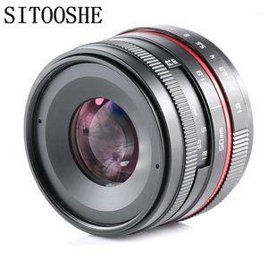 50 мм F1.8 APSC-C Manual Prime Focus Lens для Canon Nikon Sony E Mount Micro M4 / 3 Fujifilm FX Pentax Samsung Cameras1