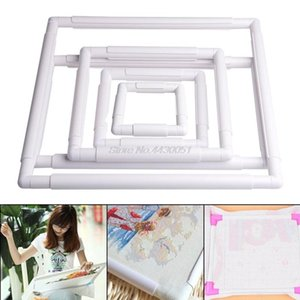 Handhold Square Shape Embroidery Plastic Frame Hoop Cross Stitch Craft DIY Tool DIY Needlework Home supplies