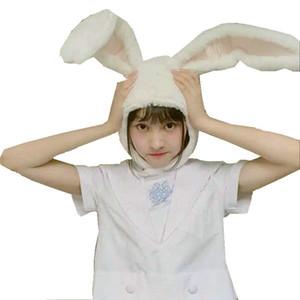 popular girls rabbit Headband Plush Rabbit ears hoops white bunny ears Headdress gifts for woman Photographic tools Selfie 201031