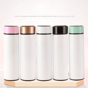 Digital Smart with Temperature Indicate Blank Sports Coating Sublimation Blanks Personality Customized Water Bottle A05