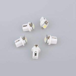 10pcs Free shipping T5 1SMD 5050 Car Motorcycle Instrument Panel Cluster Gauge Dash LED Light DC12V