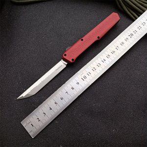 Slenderman / SLM 2nd Edition Red Tactical automatisches Messer D2 (Vakuum-Wärmebehandlung) Klinge Aviation Aluminium t6-6061 Griff Camping im Freien