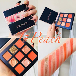 Beauty Glazed Makeup Eyeshadow Pallete 9 Colors Peach Eye shadow Palette Shimmer Pigmented Make up Palette Maquillage