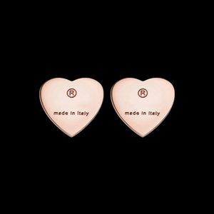 2020 bijoux en acier titane gros coeur simple mode en forme de boucles couple dames boucles d'oreilles coeur de pêche