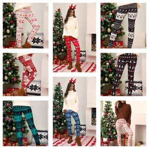 Plus Size Xmas Leggings Pant Xmas Tree Snowflake Elk Printing Pants Skinny Tights Legging Women Bootcut Stretchy Pants Trousers E111105