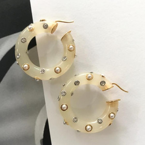 Wedding Jewelry BROOCH Earrings Crystal Pearl Acrylic Design Earrings Women Banquet Party Accessories Jewelry Gifts