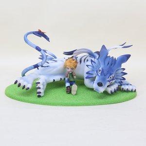 New Arrival 13cm Digimon figure toy Garurumon Ishida Yamato PVC Action Figure model Collection Toy Dolls