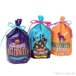 50pcs 19x14cm Halloween Candy Bags Cute Pumpkin Ghost Gift Bag For Cookies Snack Food Packing Halloween Party Decor Supplies
