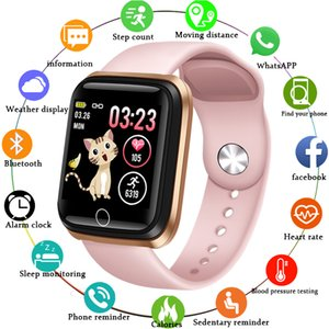 Smart Watch for Women Sports Smart Bracelet IP67 Waterproof Watch Pedometer Heart Rate Monitor LED color screen smart watch for Android ios