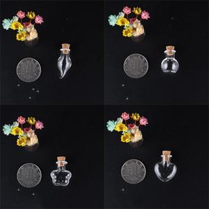 Mini Trasparente Bittiglie di vetro Wishing Blacks a forma di cuore Square Piccolo tappo di sughero Stopper Drifting Bottiglia Pendenti Decorare portatile 0 99JD M2
